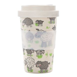 Cream Sheep Bamboo Travel Cup