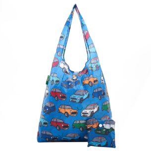 Blue Minis Recycled Foldaway Shopper Bag