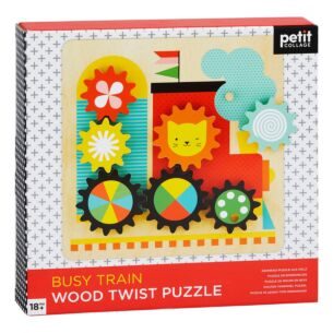 Busy Trains Wooden Twist Puzzle