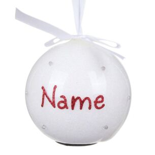 Personalised 'Your Name in Lights' White LED Bauble
