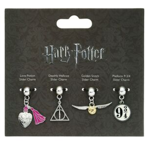 Charm Set of 4 - Golden Snitch, Deathly Hallows, Love Potion, 9 3/4 Platform