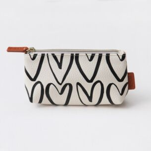 Hearts Cosmetic Bag