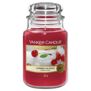 Returning Favourite Cherries On Snow Large Jar Candle