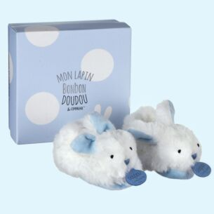 Blue Bonbon Boxed Baby Booties