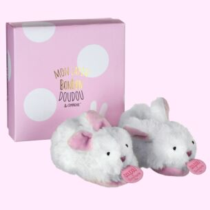 Pink Bonbon Boxed Baby Booties