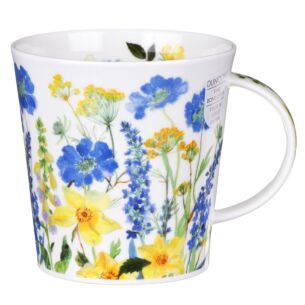 Cottage Border Blue Cairngorm Shape Mug