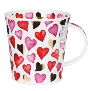 Love Hearts Red Cairngorm Shape Mug