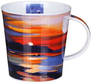 Red Skies Sunset Cairngorm Shape Mug