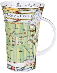 The World of Cricket Glencoe shape Mug