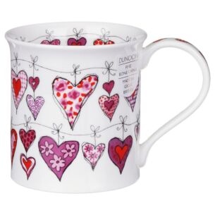 Heartstrings Pink Bute shape Mug