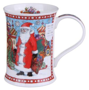 It's Christmas - Santa With Snowflakes Cotswold shape Mug