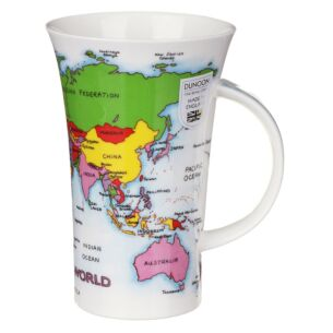 Map Of The World Glencoe shape Mug