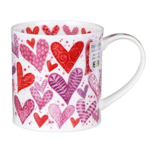 With Love Red Orkney Shape Mug