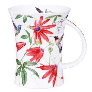 Hummingbirds Red Richmond Shape Mug