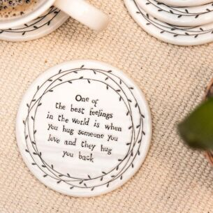 One Of The Best Feelings Porcelain Leaf Coaster