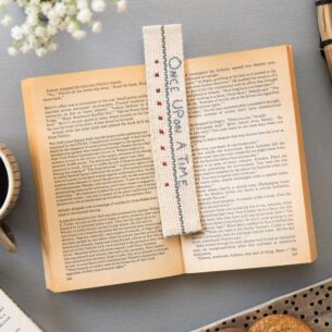 'Once Upon A Time' Fabric Bookmark