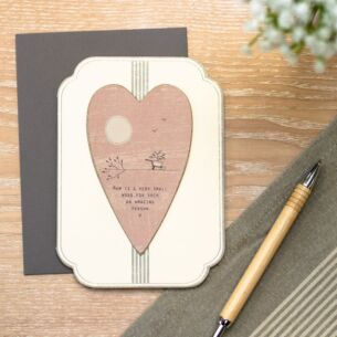 'Mum Is A Very Small Word' Card