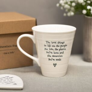 'The Best Things In Life' Porcelain Boxed Mug