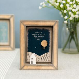 'Distance Means So Little' Box Frame
