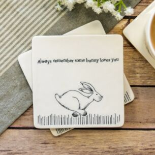 'Some Bunny Loves You' Square Coaster