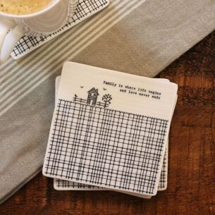 'Family Is Where' Square Coaster