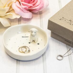 'Bonjour' Boxed Jewellery Dish