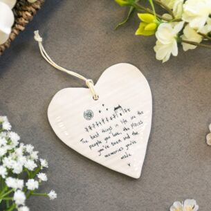 'The Best Things in Life' Wobbly Hanging Heart