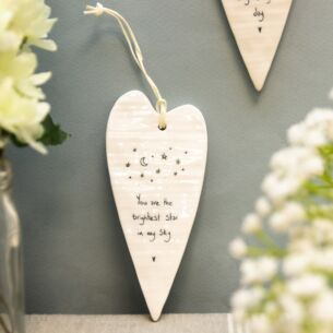'Brightest Star' Long Hanging Heart