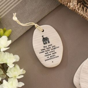 'May Your Home' Porcelain Hanger