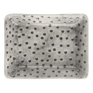 Dimpled Spots Hand Painted Oblong Plate