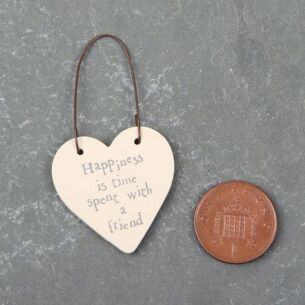 Time Spent With A Friend - 3cm Little Heart on Wire
