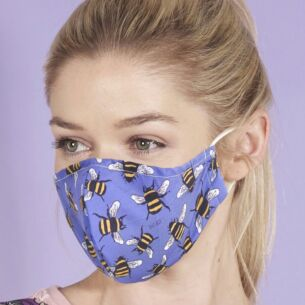 Blue Bumblebees Recycled Face Cover