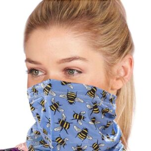 Snood with Filter Pocket – Blue Bees