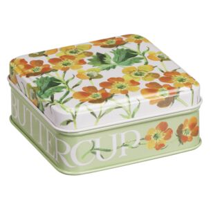 Flowers Buttercup Small Square Pocket Tin