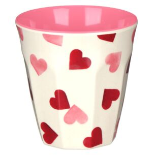 Pink Hearts Two Tone Bamboo Beaker
