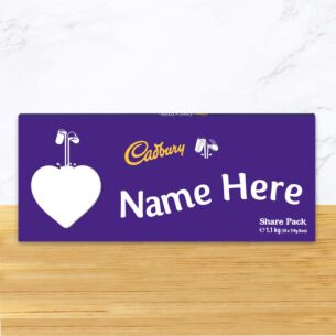 Personalised 1.1kg Heart Dairy Milk Chocolate Share Pack