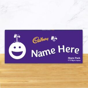 Personalised 1.1kg Smiley Dairy Milk Chocolate Share Pack