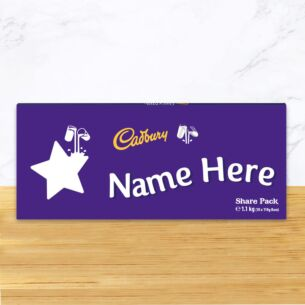 Personalised 1.1kg Star Dairy Milk Chocolate Share Pack