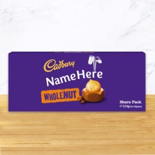 Personalised 1.1kg Whole Nut Chocolate Share Pack