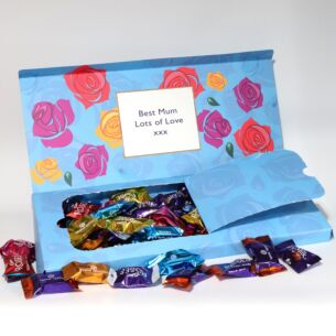 Personalised Roses Chocolates Large Letterbox 580g Selection
