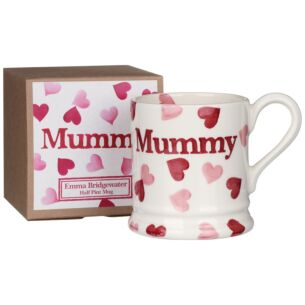 Pink Hearts Mummy Half Pint Boxed Mug