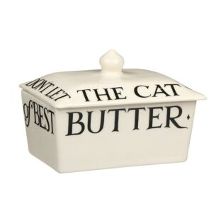 Black Toast Small Butter Dish