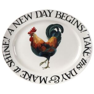 Rise & Shine A New Day Begins Medium Oval Plate