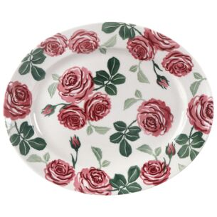 Pink Roses Medium Oval Plate
