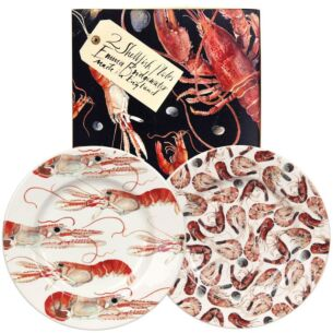 Langoustines & Shrimps Two 8½ Inch Boxed Plates