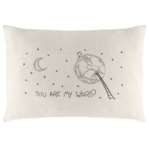 'You Are My World' Wool Cushion