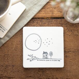 'My Favourite Place' Porcelain Square Coaster