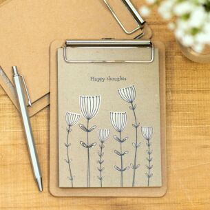 Small 'Happy Thoughts' Clip Pad