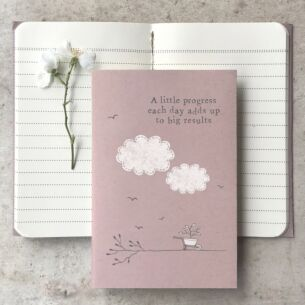 'A Little Progess' Small Lined Notebook