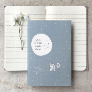 'Out of This World Ideas' Small Lined Notebook
